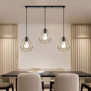 3er set Kronleuchter -Pendelleuchte für Esstisch Esszimmerlampe Wohnzimmer Lampe Schlafzimmer Küche Vintage  (Ohne Glühbirne)