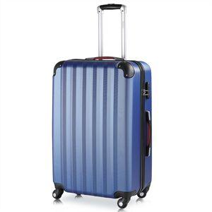 Hartschalenkoffer Koffer XL Trolley 4 Rollen Reisekoffer Gepäck Schloss ABS Blau