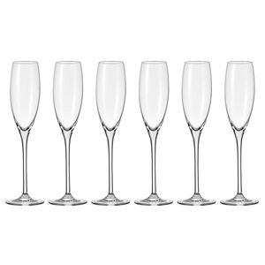 LEONARDO 061631 Cheers Sektkelch, Glas, 230ml, H 27cm, klar (6 Stück)