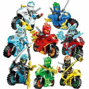 8Stk Phantom Ninjago motorcycle  Set Ninja Mini Figuren  Blöcke  Spielzeug,Sonstige Spielzeugfiguren