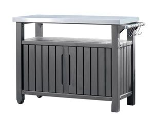 Keter Grilltisch / Beistelltisch 2-türig graphit 123x54x90cm