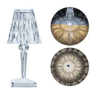 Welikera Diamant Tisch Lampe USB Aufladbare mit Kabel Acryl Dekoration Lampe Schlafzimmer Nacht Kristall Tisch Lampe