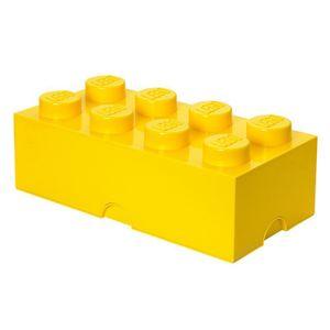 LEGO Aufbewahrungsbox Spielzeugkiste Box 8er, 50x25x18 cm, stapelbar, Farbe:gelb