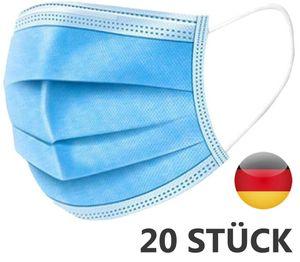 20 x Mundschutz Atemschutz OP Masken Mund- und Nasen Atemschutzmasken Filtermasken - Seriöse deutsche Firma mit 24h Lieferung