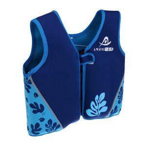 Kinder Kind Schwimmen Schwimmer Leben Jacke Schwimmhilfe Vordere Reißverschluss Weste L blau