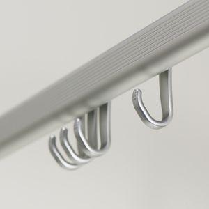 Sealskin Komplett-Set Easy-Roll-Duschvorhangstange Aluminium, Maße: 170x80 cm, 90x90x90 cm, 90x90xcm, 80-240 cm, inklusive Deckenstütze und Haken, Farbe: chrom matt , 276623005