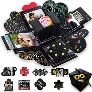 Geschenk DIY Foto Box Set, Explosionsbox,personalisierte Überraschungsbox, geeignet für Geburtstag, Hochzeit, Valentinstag,Jahrestag