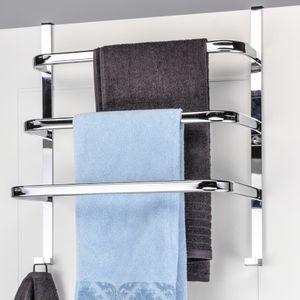 Tür Handtuchhalter aus Metall zum Einhängen an den Türrahmen fürs Bad 33128