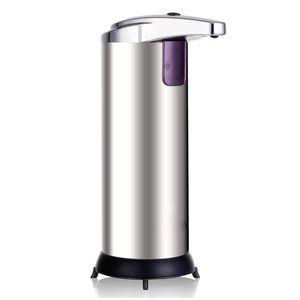 Infrarot Sensor Seifenspender 280ml Automatisch Desinfektionsmittelspender Flüssigseifenspender Dispenser Silber