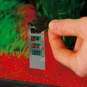 Ferplast thermometer Blu selbstklebend 9,5 x 2 cm matt silber
