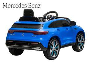 Lizenz Elektro Auto Mercedes Benz EQC 400 Blau