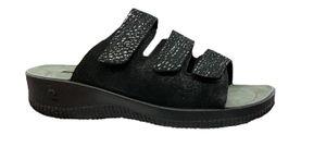 Romika Damen SALIONA 01 Pantolette 51501-181-101 schwarz kombi, Damen Größen:37, Farben:schwarz