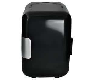 Mini Kühlschrank & Warmhaltebox 4 Liter Kühlbox 12V + 220V Weiß/Schwarz 5794, Farbe:Schwarz/ black