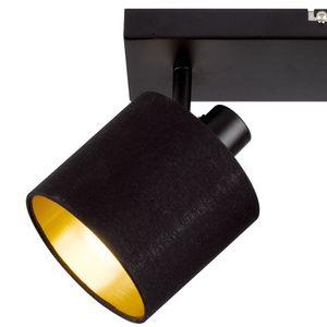 Deckenleuchte, schwarz-gold, Spots beweglich, L 28 cm, TOMMY