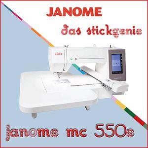 Janome Memory Craft 550e Stickmaschine 4 Stickrahmen inclusive