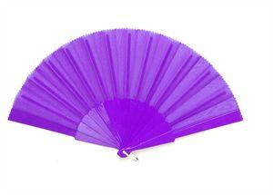 Fächer Handfächer lila mit 14 Sticks Taschenfächer Windfächer Luftfächer