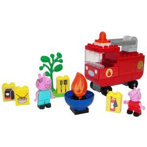 BIG 40-tlg. Bloxx Peppa Pig Feuerwehrauto Spielset