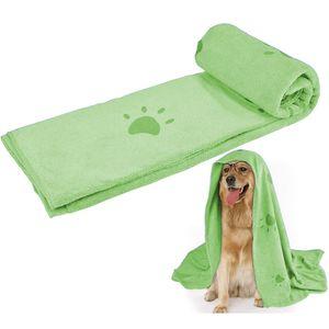 Super saugfähiges Haustierhandtuch, Mikrofaser Hund Badetuch 70x140cm