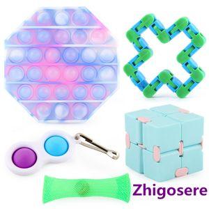 5 Stück POP it Fidget Toys Sensory Toys Set für Kinder Erwachsene Fidget Toys Pops Tubes Fidget Toy