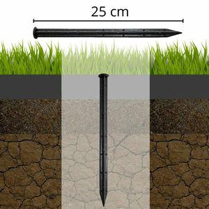Anker (25cm, 10 stück) Erdanker Rasenkantenanker Befestigungsanker Bodenanker