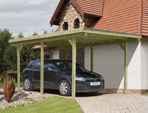 Carport Holz imprägniert - / Einzelcarport KDI mit PVC-Dach 300x500cm