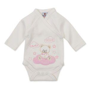 Milarda Baby Body Wickelbody Bär, creme, Gr. 50-62 Größe - 50