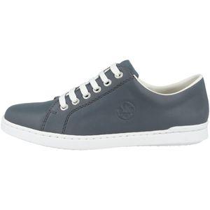 Rieker L2710 Damen Halbschuhe Schnürschuhe Leder, Größe:38 EU, Farbe:Blau