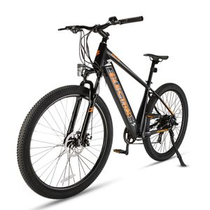 FAFREES 27.5 Zoll Elektrisches Fahrrad Electric Bike 250W E-Bike Faltrad E-Bike Montainbike Elektrofahrrad mit 36V 10.4Ah  LED Leucht Scheinwerfe-Schwarz