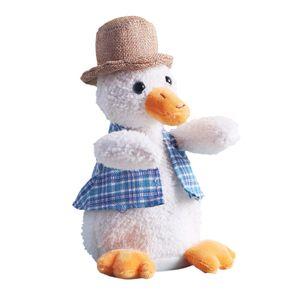 Sprechende Ente Elektrische Ente Plüsch Spielzeug Singen Tanzen Interaktive Tiere Kuscheltiere für Kinder Baby Wiederhole Duck /25cm/