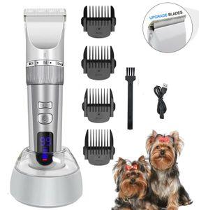 Profi Tierhaarschneidemaschine Hund Katze Haustier hundetrimmer Tierhaarschneider USB Wiederaufladbare Tierhaarschneider