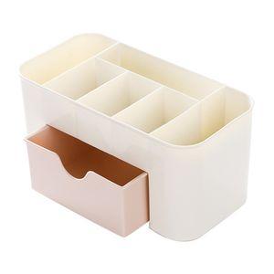 Makeup Organizer Box Schmuck und Kosmetik Aufbewahrung Geschirr Container 1 Schubladen und 6 Grid Lipstick Case