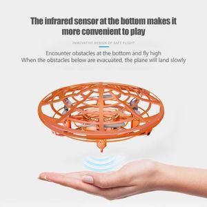 DEERC Verbesserte Version Infrarot Induktions UFO Mini Drohne Golden