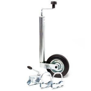 Stützrad 150kg inkl. Klemmhalter & Schellen Wohnwagen Anhänger Stütze