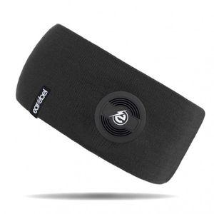 STIRNBAND mit integrierten KOPFHÖRERN Mikrofon Bluetooth Earebel 65 (Schwarz)
