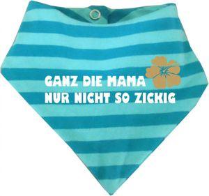 Baby Halstuch gestreift (Farbe hellblau-dunkelblau) (Gr. 1 (0-74) Ganz die Mama nur nicht so zickig