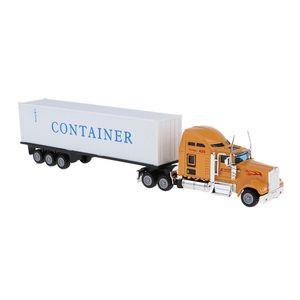 1:65 Metall Diecast Fahrzeug Spielzeug Schwertransport LKW 27cm Modellauto gelb wie beschrieben