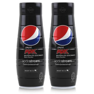 SodaStream Getränke-Sirup Softdrink Pepsi Max Zero 440ml (2er Pack)