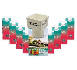 Capital BraTee 8er Set Eistee Wassermelone water melon 750ml Ice tea + Gratis Getränkehalter + Autogrammkarte - Heftig fruchtiger BraTee mit Wassermelonengeschmack - nicht zu süß, genau perfekt