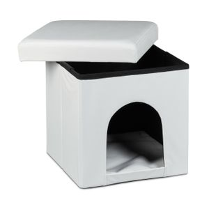 relaxdays Hundebox Sitzhocker