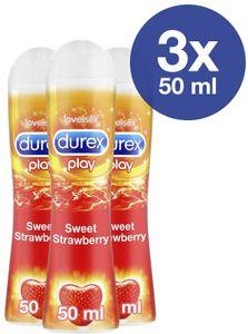 Durex Play Sweet Strawberry Gleit- & Erlebnisgel mit Erdbeeraroma 3 x 50ml
