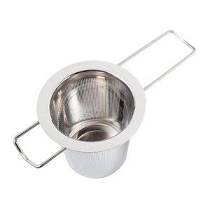 Teesieb Aus Edelstahl Mit Großem Fassungsvermögen Zum Aufhängen An, zum Aufhängen an Teekannen und Bechern.
