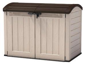 KETER-Store It Out ULTRA-Woodland ULTRA - Universalbox für Fahrräder, Mülltonnen, etc.-beige/braun-6030