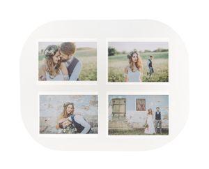 6 Tischsets für 4 Fotos Format 10 x 15 cm 6