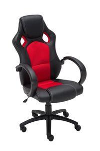 CLP Racing Bürostuhl Fire höhenverstellbar und drehbar, Farbe:rot