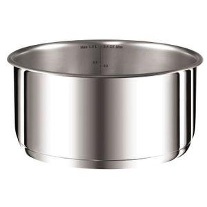 Tefal Ingenio Preference L9252944 Kasserolle, Edelstahl, 18 cm Durchmesser, Induktionsherd-geeignet, abnehmbarer Griff