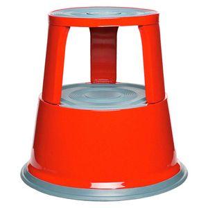 Rollhocker aus Stahlblech, rot, Tragkraft 150 kg, ØxH 290/440x430 mm