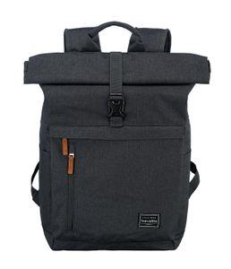 Travelite Basics Rollup Rucksack Daypack Backpack Kurierrucksack 96310, Farbe:Anthrazit