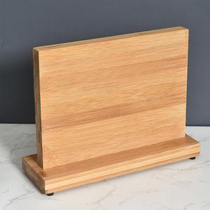 Double Side Magnet-Messerhalter aus Holz umweltfreundlichem Bambus Messerblock Strong Magneten Küchen-Geräte Lagerung Messerständer-Rack