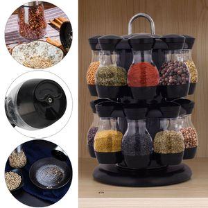 Miixia 16 drehbar Gewürzregal Gewürzständer Küche Gewürzkarussell Gewürzebehälter