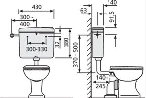 SANIT Spülkasten 928 WC 6-9 Liter Start/Stop Spartaste Ersatzteil